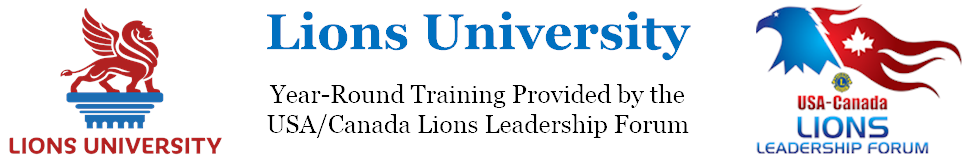 Lions University Logo and Link to Lions University